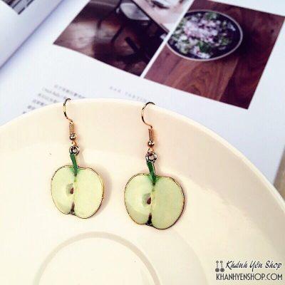 bông tai trái táo