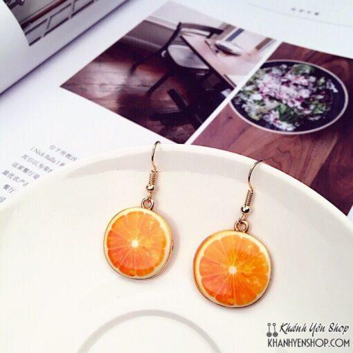 bông tai trái cam