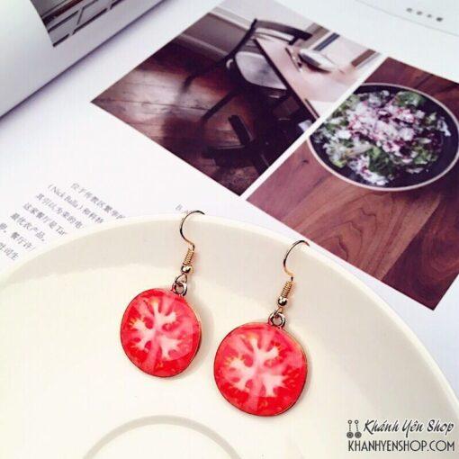 bông tai cà chua