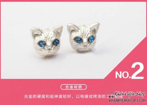 Bông Sát Tai Hình Đầu Mèo Ma Mị 2